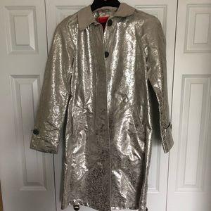 Silver raincoat